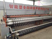 Automatic steel plastic geogrid production line