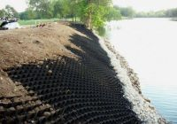 HDPE geocell for protecting solpe, channel and plant