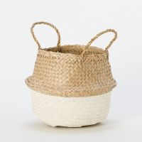 Color dipped bottom seagrass basket/ storage basket/ belly seagrass basket