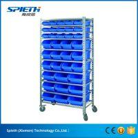 Cheap storage design custom light duty plastic mobile bin rack