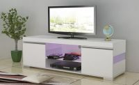 glossy tv stand with led light