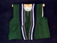 Boy's Batakari / Fugu - Green Pinstripes