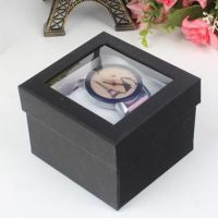 Cardboard gift packaging watch paper box with PVC window