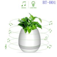 Smart LED Wireless Bluetooth Speaker Music Flower Pot Touch Plant Speaker Wireless Smart Lounspeaker for Anxiety Stress Relief Gift