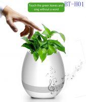 New! Creative Music Vase Smart Music Flowerpot Wireless Bluetooth Speaker Intelligent Plant Piano Music with Colorful LED Night Light