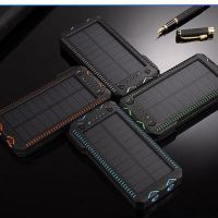 Cigarette lighter Solar Waterproof Portable Power Bank Battery Charger for iPhone, iPad, Samsung, other Android mobile phones, Kindles