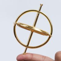 Metal gyroscope toys for children Magic spinner gyro for classic traditional science educational learning balance gift