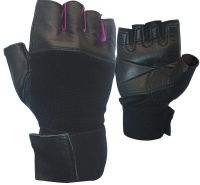 Customized Leather Weight lifting gloves/ strong grip