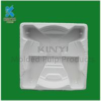 Recyclable material bagasse pulp molded biodegradable paper pulp tray