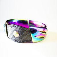 Bracelet Makuti by AVEVA in titanium, carbon fiber and genuine leather