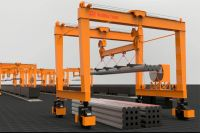 Rubber Tire Gantry Crane for Steel Pipe Handling
