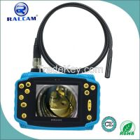 Flexible video borescope endoscope for sewer pipe inspection