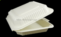Bleached disposable sugarcane tableware