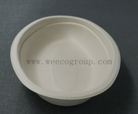 Square Biodegradable Sugarcane Pulp Paper Bowl for Food Use