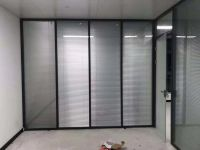 Popular Interior Aluminum Frame Double Glass Office Partition with Blind