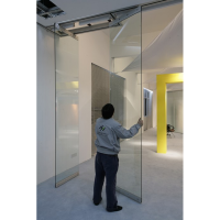 Tempered Glass Folding Partition Sliding Partition Wall