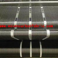 12k 200g 10cm unidirectional carbon fiber fabric for building reinforement