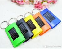 Solar Mini 3 LED Flashlight with Keychain