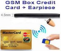 GSM Spy Earpiece in Card with 3 Invisible Earpiece - Full Set