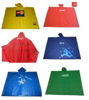 high quality 100% waterproof plastic branded rain poncho for mens and womens