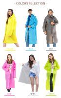 cheap price factory pvc plastic long raincoat unisex hooded