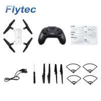 Flytec T17 Foldable Selfie RC Drone with 720P Double Cameras Wifi FPV Optical Flow Positioning Altitude Hold Gesture Taking Photo RC Quadcopter RTF