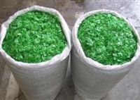 pet bottle flakes green
