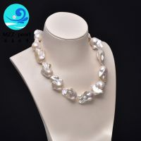 2017 new arrival 18x22mm large baroque pearl strands necklace for women