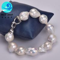 13x15mm cultured freshwater pearl bracelet from china