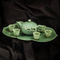 Exclusive tea set from jade