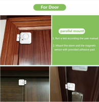 Augreener 3.6v lithum battery wireless door sensor alarm