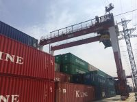 Used 40T/60T Rubber Tyre Mobile Harbour Port Container Gantry Crane for sales