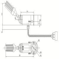 Engineering vehicle gear selector