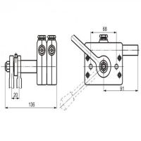 Double valve speed controlofconstruction machinery