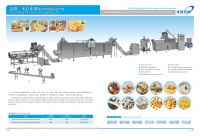corn powder puffed snack food production line with advanced technology