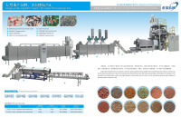 High Capacity Floating / Sinking Fish Feed Processing Machinery