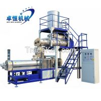 Small scale puffed snack food extruder production plant