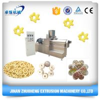 Complete Puffed corn/wheat/rice flour snacks food processing line