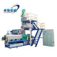 China floating fish feed pellet extruder machine