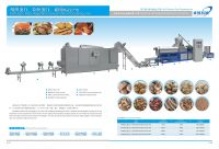 Full Automatic defatted soya protein food production extruder machine