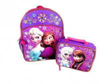 Walmart Disney FAMA Marvel Polyester 600D Glitter Organza Sequins Back to Shool Backpack Lunch Tote