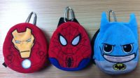 Starwars Marvel Disney Chewbacca Spiderman Plush Embroidery Velboa Coin Purse