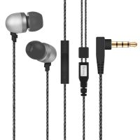 Diomix  In-ear Metal Earphones with volume + mic for iPhone 6/6S Plus, iPad, Samsung, Nexus and more