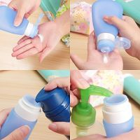 FDA Leakproof Squeezable and Refillable Bottle Container for Shampoo, Conditioner, Lotion, Toiletries