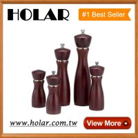 [Holar]  Manual Pepper Grinder with Stainless Steel Made in Taiwan Chef Wooden