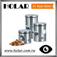 [Holar] Stainless Steel Canister Set with Easyviewing Window Made in Taiwan