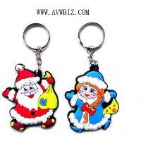 Plastic Christmas Keychain