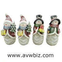 Resin snowman christmas decoration