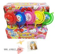 Cartoon Globe Toy with Candy & Tattoo