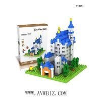 New Swan Stone Castle Diamond Building Block Educational Toy
